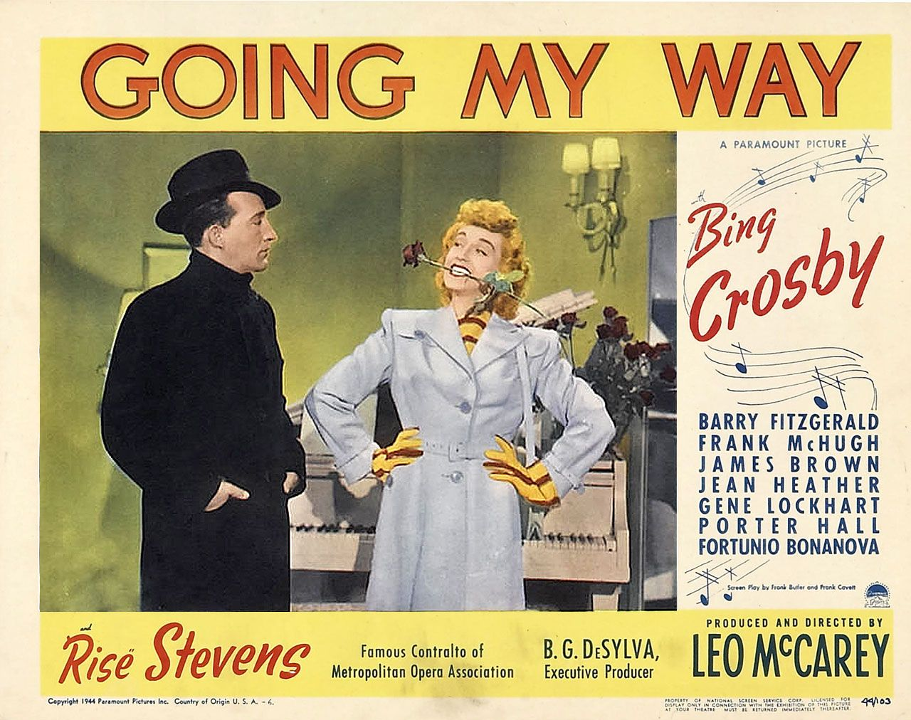 Lobby Card Going My Way,1944 | TITLE AND SCENE LOBBY CARDS ...