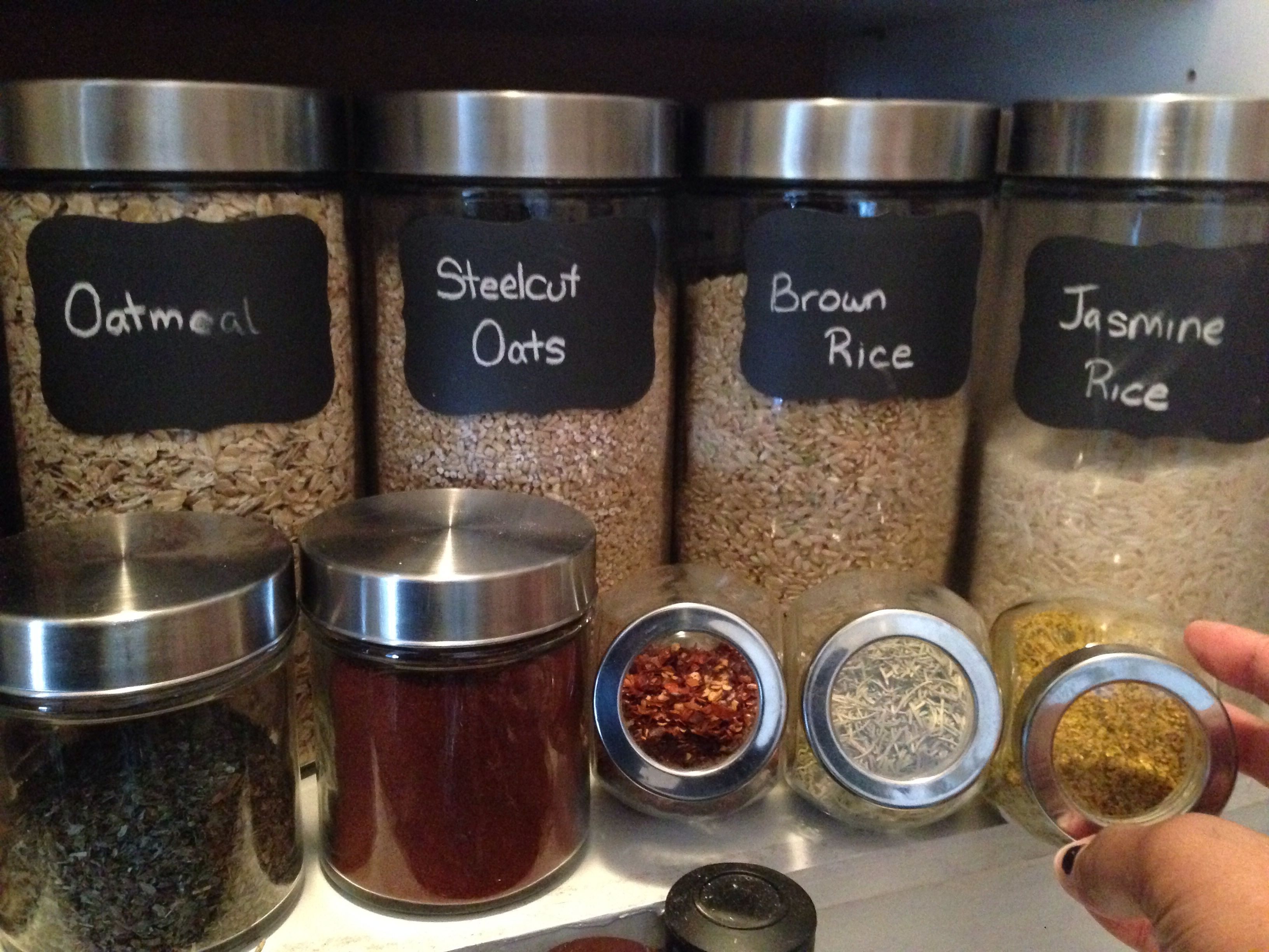 Kitchens Dollarama Jars For Pantry With Chalkboard Labels Need To