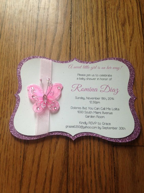 ButterflyGarden Themed Baby Shower by MemorableImprints on Etsy – Garden Party Baby Shower Invitations