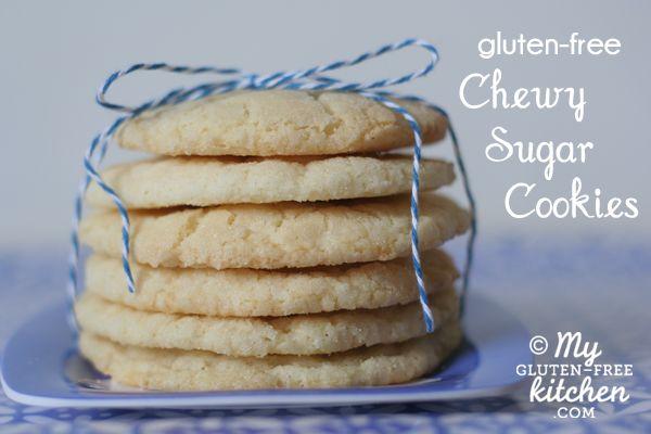 Gluten-free Chewy Sugar Cookies #sugarcookies