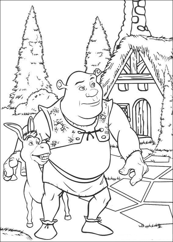 Coloring Page Shrek Shrek Coloring Pages Coloring Pages