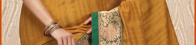 Mustard Art Bhagalpuri Silk Saree with Blouse Online Shopping: SMU1151