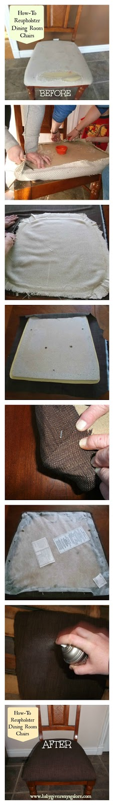 How-To Reupholster Dining Room Chairs #DIY #Tutorial