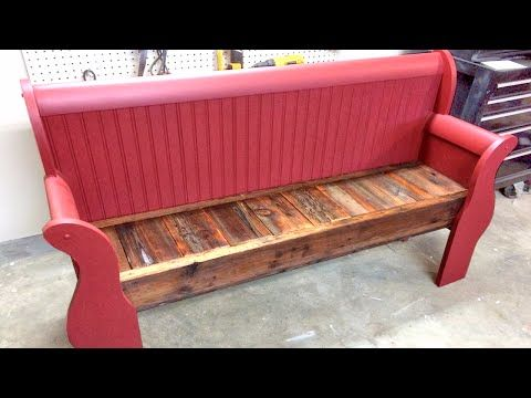 Tremendous Repurpose Sleigh Bed Into A Bench Youtube Sleigh Beds Dailytribune Chair Design For Home Dailytribuneorg
