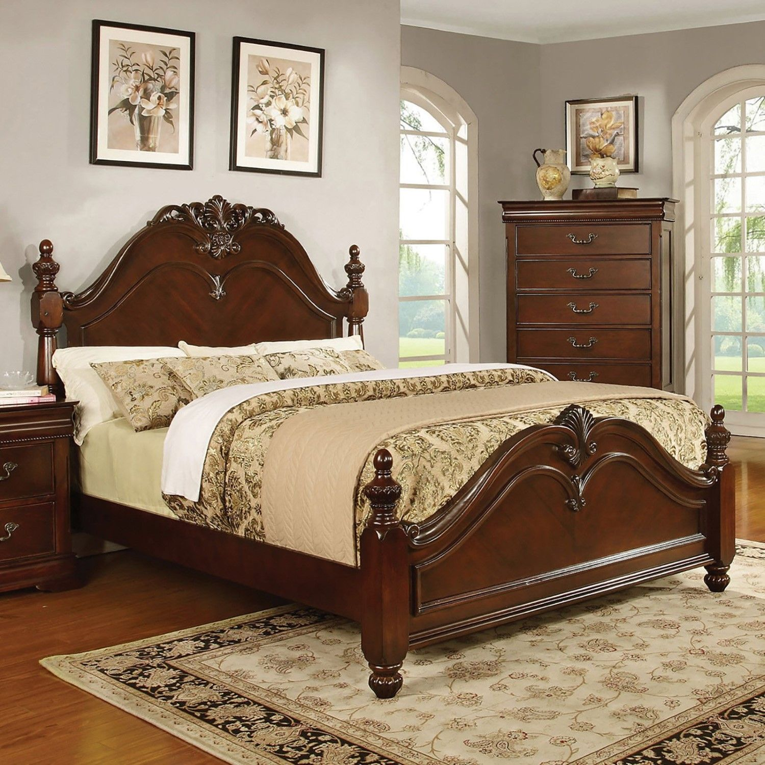 Home Source Industries Highclere Castle Panel Bed Bedroom Sets