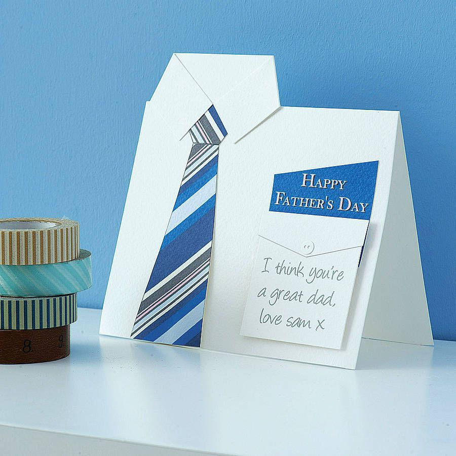 Shirt design card - Handmade Shirt And Tie Father S Day Card