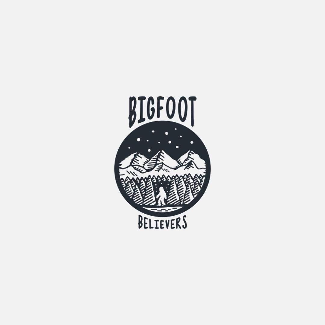 Bigfoot Believers by Ivana Sivac | http://ift.tt/2pB8KSF - LEARN LOGO DESIGN  @learnlogodesign @learnlogodesign - Want to be featured next? Follow us and tag #logoinspirations in your post