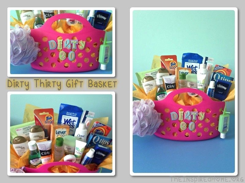 Looking For An Alternative Idea A Dirty Thirty Birthday Present Check Out This Gift Basket Full Of Personal Care Items Such As Shampoo Body Wash