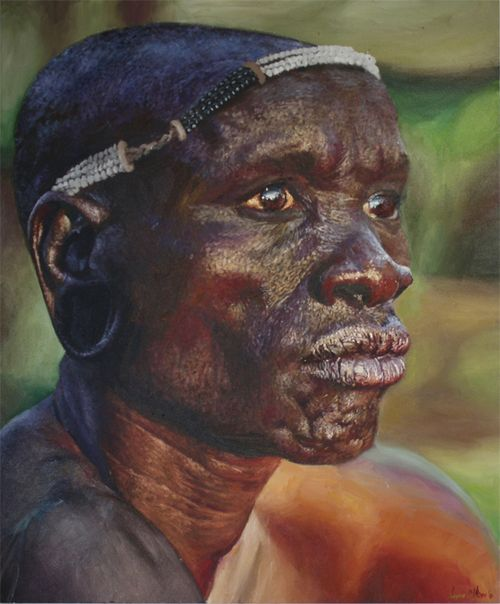 Realistic Portrait Paintings by South African Artist LOYISO MZIKE