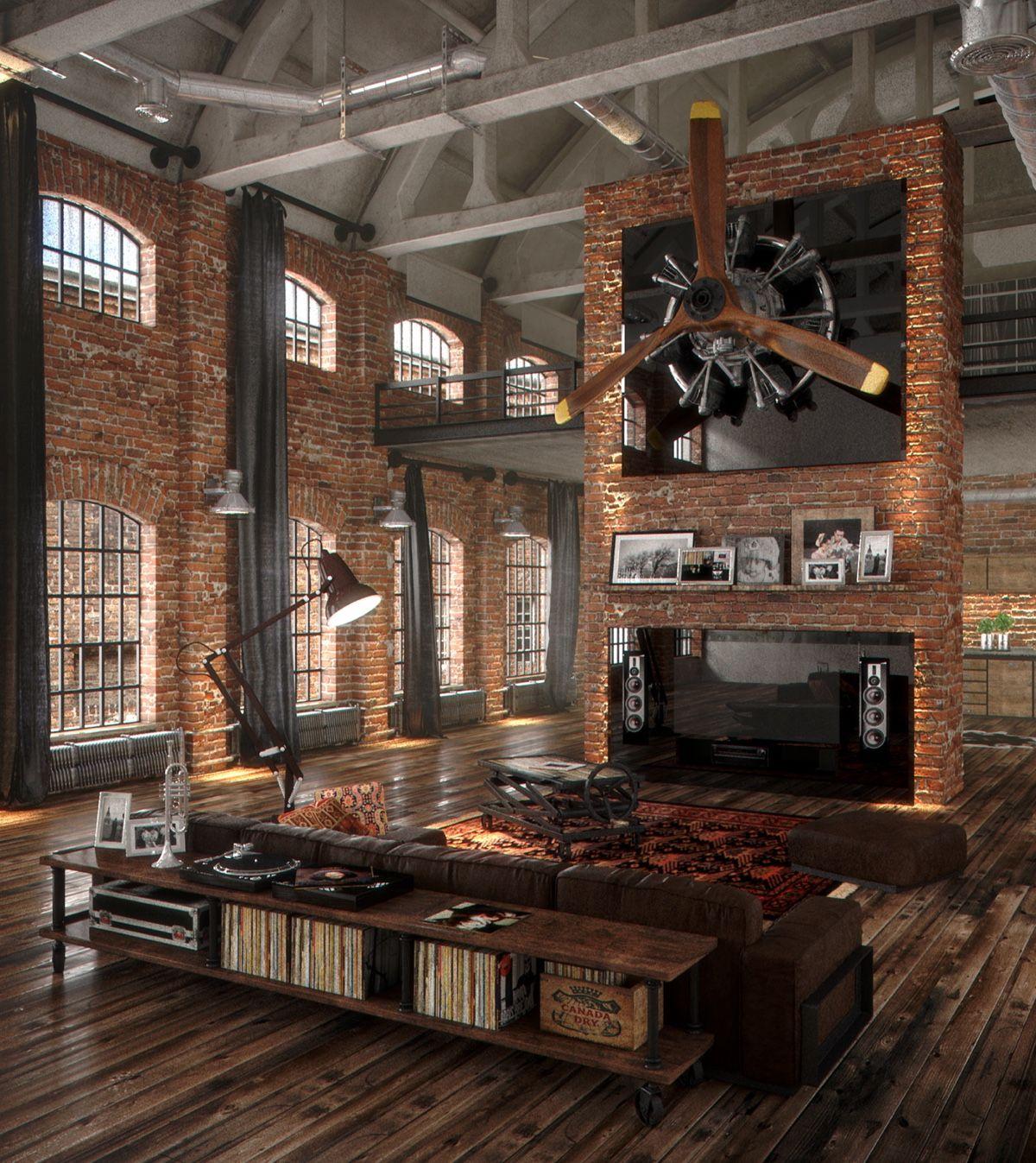 Loft con decoraci n vintage industrial chic vintage - Decoracion vintage industrial ...
