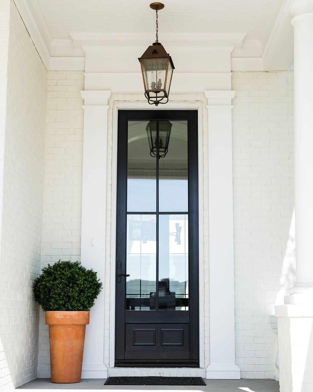 Ramage Company Tall Entrance Door Single Drop Lantern White