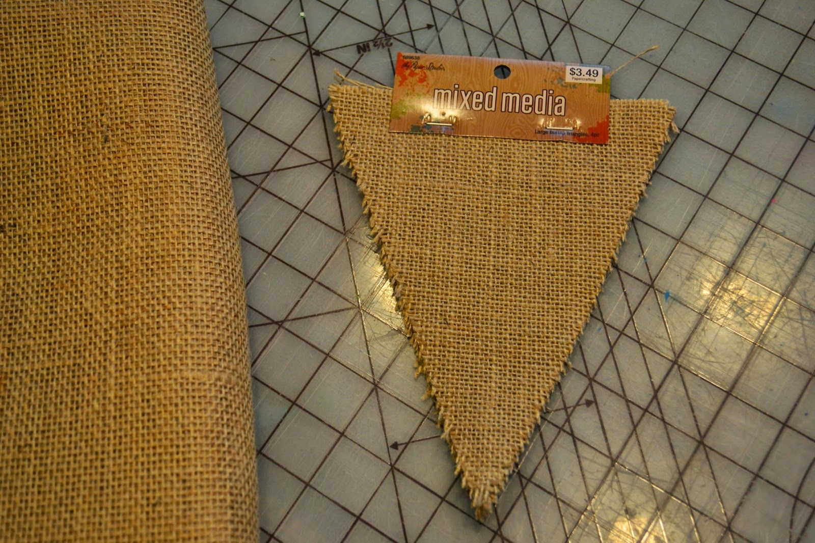 Mary, Mary, Quite Contemporary: Burlap Flag Tutorial