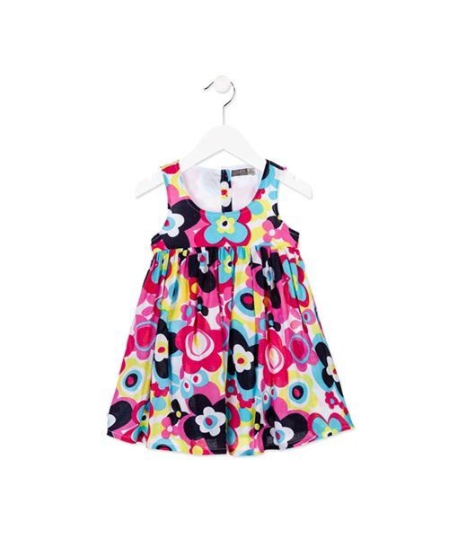1da00b31bc22 Φόρεμα φλοράλ αμάνικο losan (%cotton) | loco-mondo.gr | Summer ...