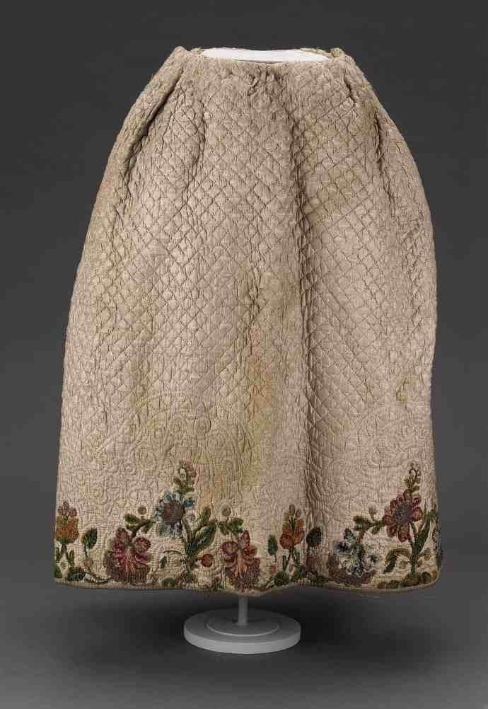 Embroidery Inspiration – 18th c. Quilted Petticoats