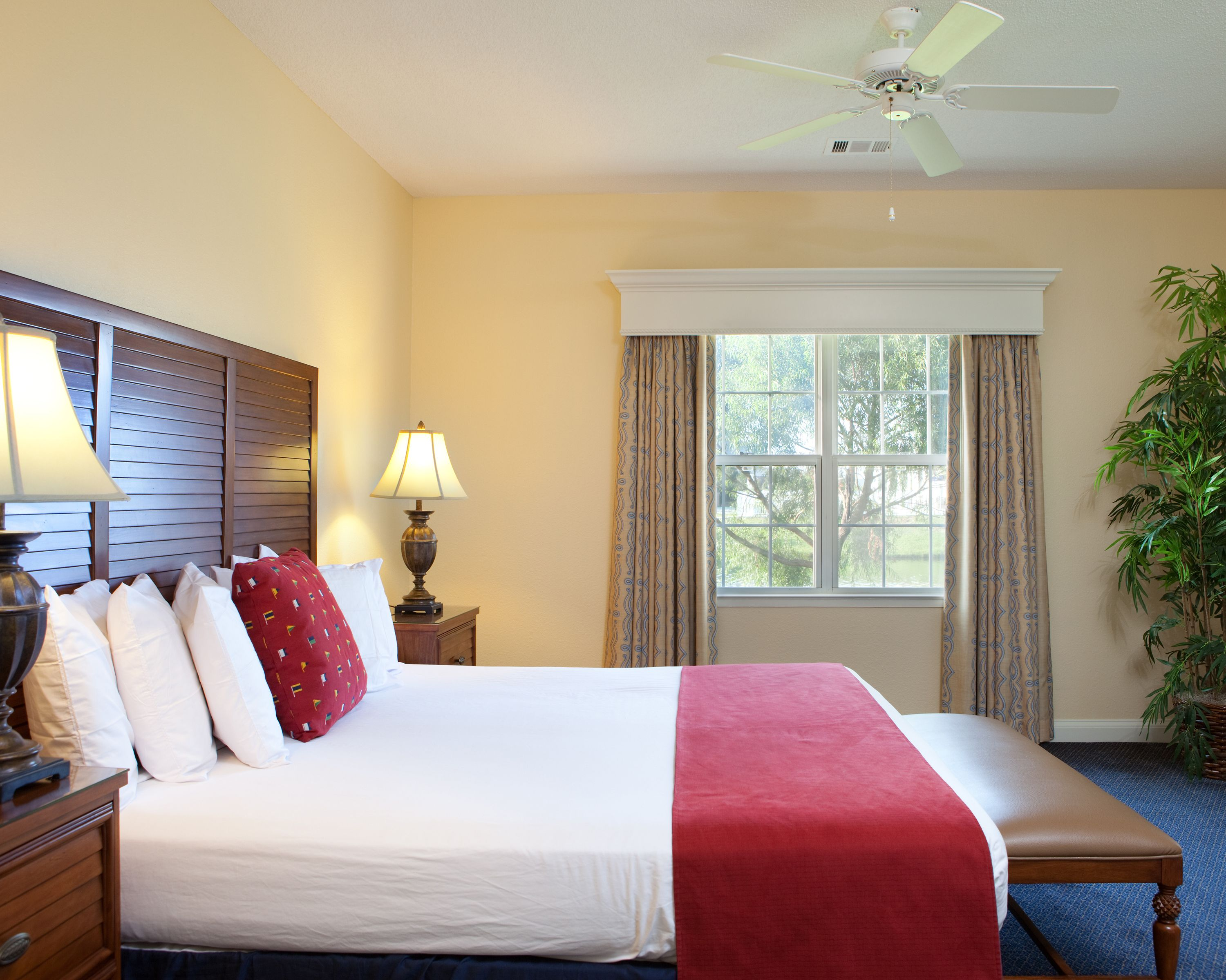 Unwind And Get Cozy In A Comfortable Bedroom During Your Romantic