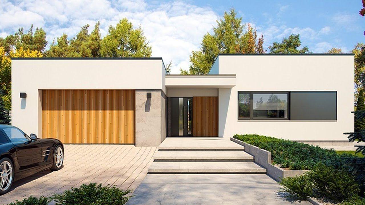 Modern Impressive Single Storey Home Beautiful Small House Design Small House Design Storey Homes Flat Roof Design