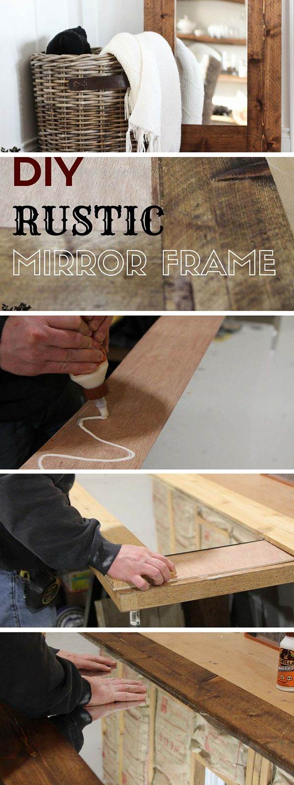 Check out the tutorial: #DIY Rustic Mirror Frame #crafts #rustic #homedecor