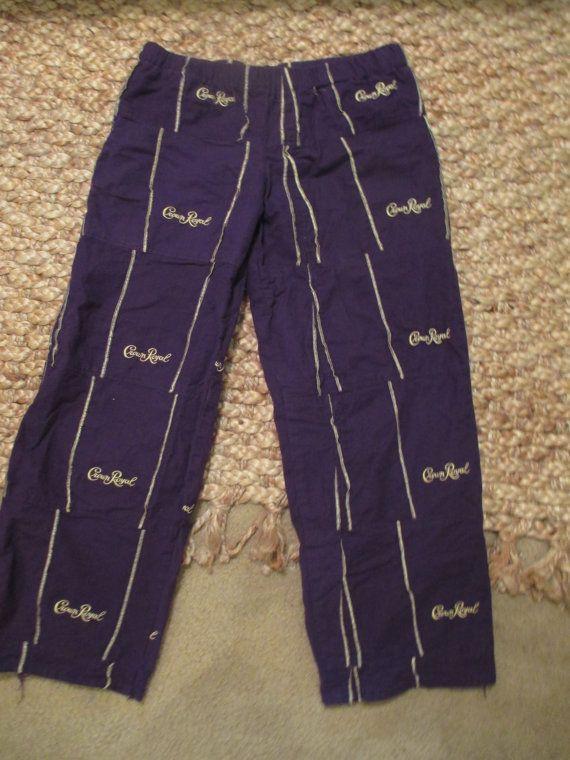 f9d782eff2a Handmade Crown Royal Bag Pajamas Mardi Gras by MemoriesofMargaret ...