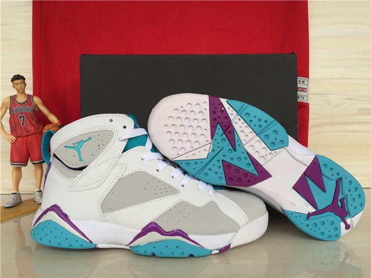 b2b28f11add641 Girls Air Jordan 7 Retro Neutral Grey Mineral Blue For Sale