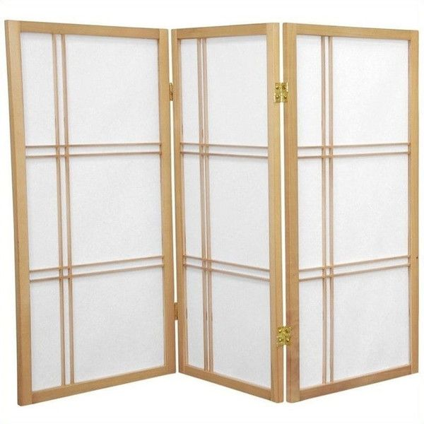 Oriental Furniture 3' Tall Shoji Screen With 3 Panel (120 Aud