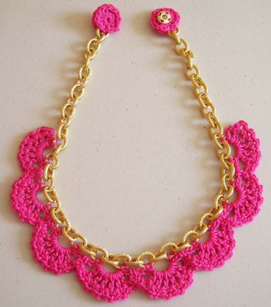 13 Modern Crochet Necklaces | Häkelideen, Halskette häkeln und Häkeln