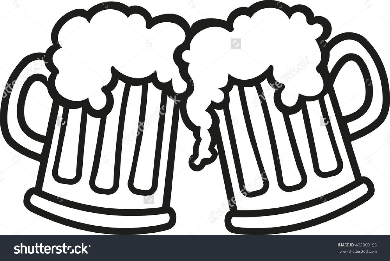 Image Result For 2 Beer Glasses Clip Art Beer Drawing Beer Mug Clip Art Beer Mugs