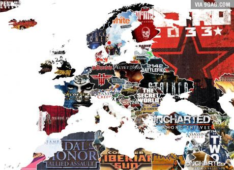 A map showing corresponded games of each country in europe a map showing corresponded games of each country in europe countries near gumiabroncs Image collections