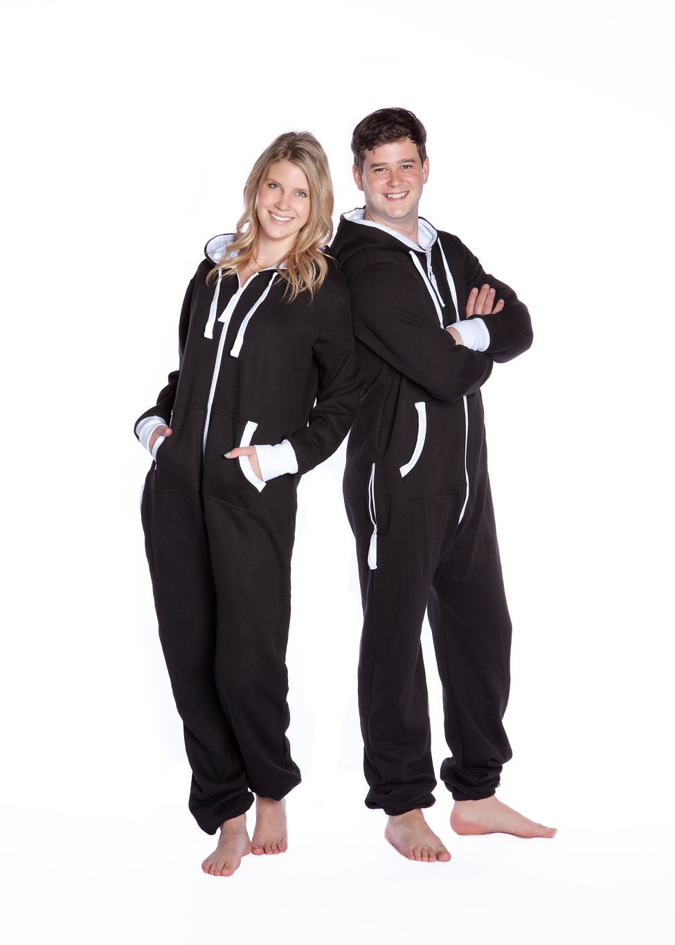d310bfb5a170 Big Feet Hoodie Jumpsuits are the answer to both active wear and lounge  wear. This soft Cotton Poly (80 20) blend is excellent for staying warm and  comfy ...