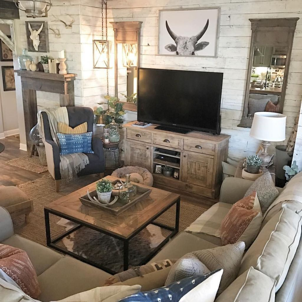 30 Popular Western Home Decor Ideas That Will Inspire You Western Living Rooms Home Living Room Country House Decor Western living room decor
