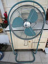 Vintage Emerson Electric Blue Seabreeze Standing Fan