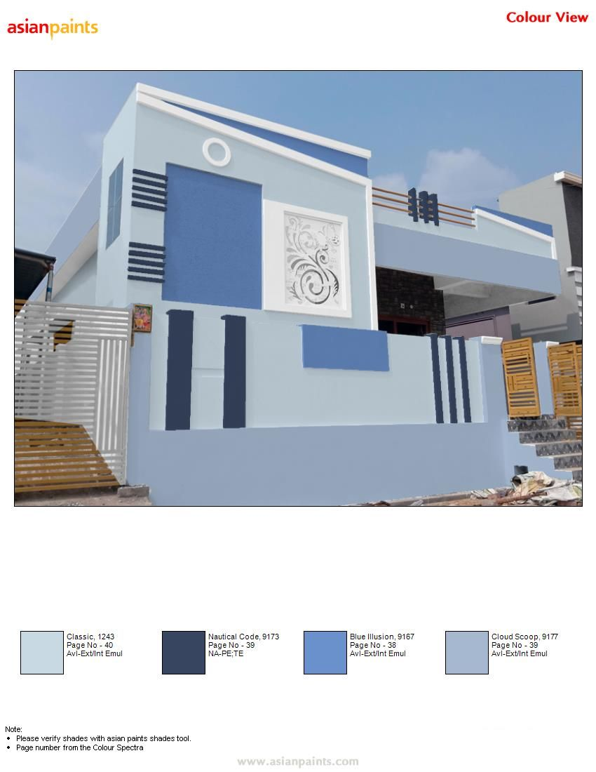 Pin By Bhutham Sudarshan On Beautify Exteriors Exterior Paint Colors For House House Balcony Design House Front Design