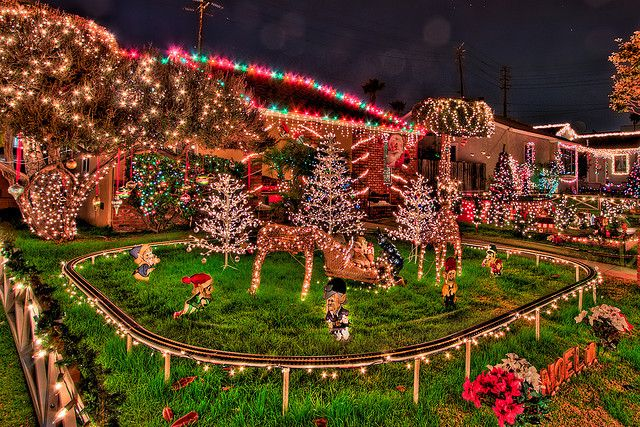 Los Angeles Christmas in la, Holiday lights, Merry