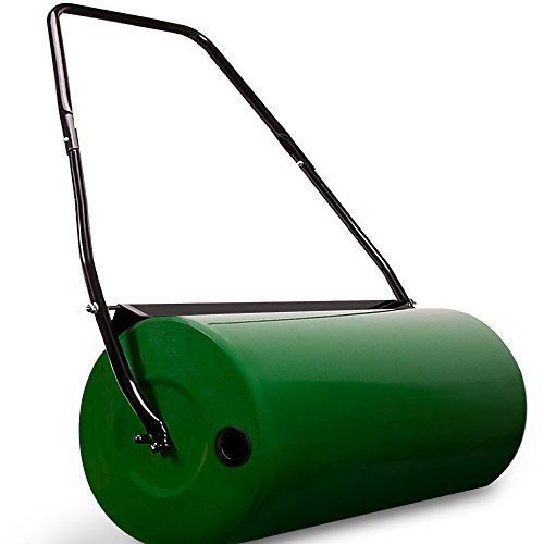 To Weight The Roller You Fill Water Or Sand Through A Side Opening The Roller Can Also Be Used After Scarifying And Fertilizi Lawn Rollers Grasses Garden Lawn
