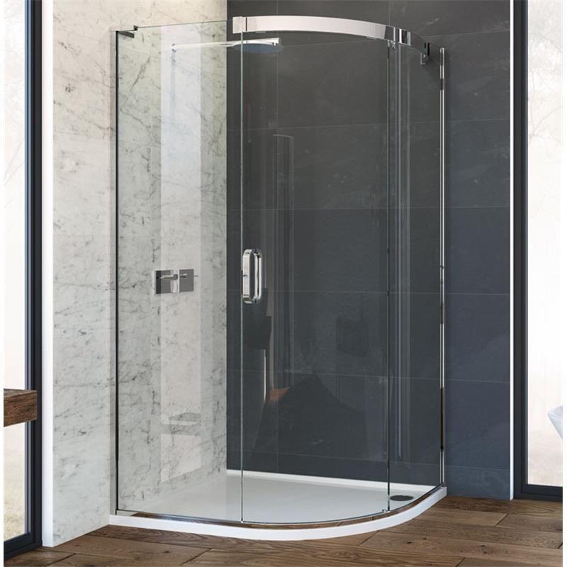 Eauzone Curved Sliding Door Corner 1500mm Bathroom Shower Doors