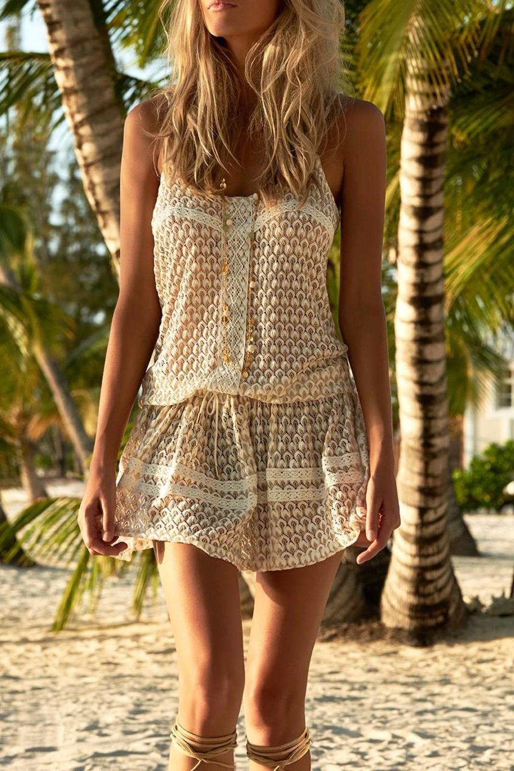 90fb8978885 Melissa Odabash Metallic Crochet Dress | What to Wear: Beach Vacay ...