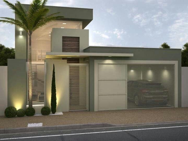 Pin de monica ibeth garcia glz en house casas modernas for Mejores fachadas de casas modernas