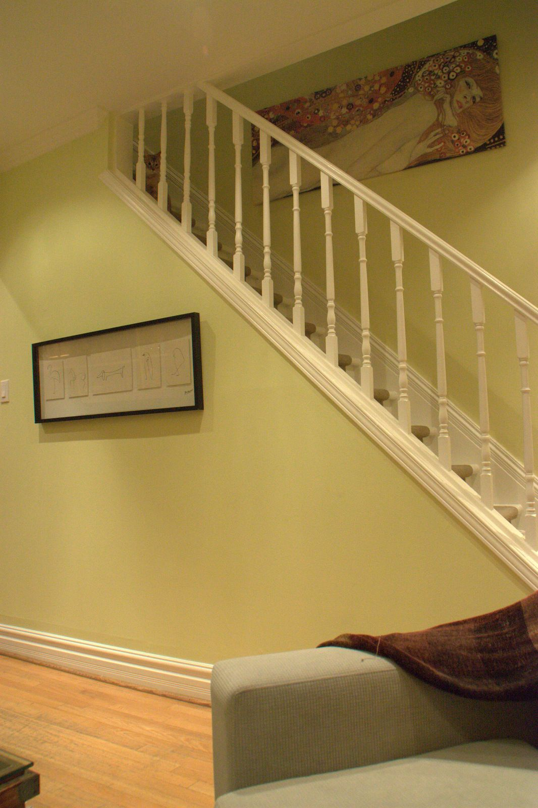 I chose this soft Lemongrass wall color in this clients home because ...