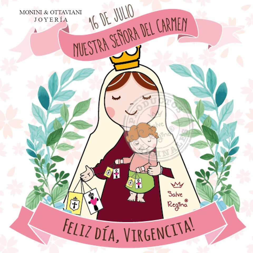 0a898b0a7b13 Hoy es el día de la Virgencita del Carmen ❤ Madre nuestra, te ...