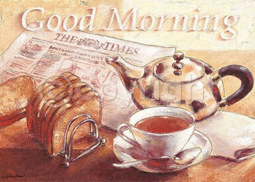 Bjoern Baar Good Morning Kueche Cafe Fertig Bild 50x70 Wandbild