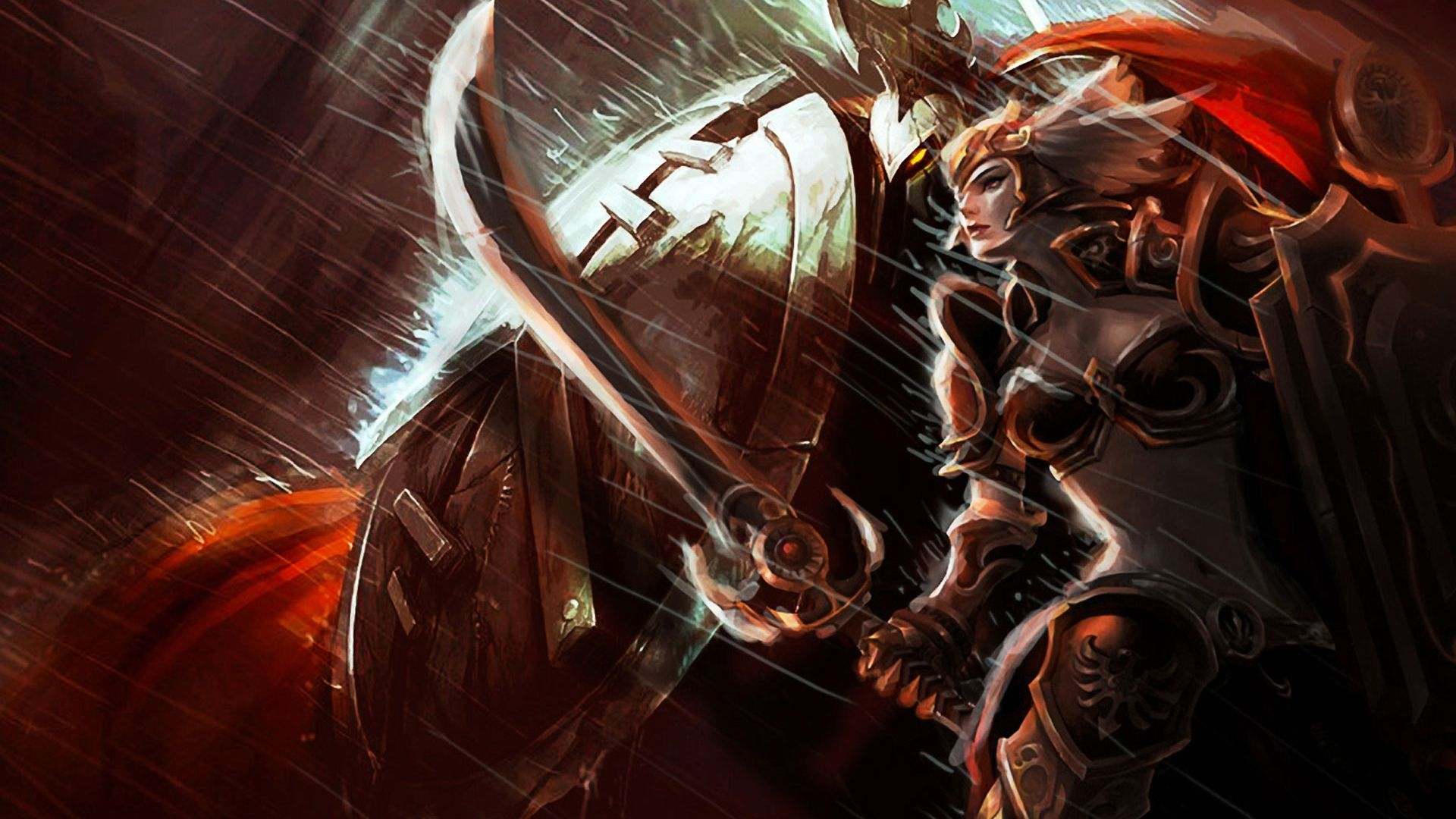 Pantheon & Leona wallpaper | LoL | Pinterest | Wallpaper