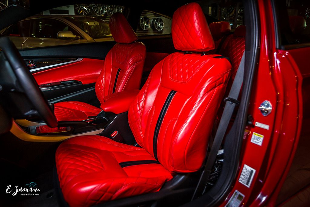 Honda Accord custom red interior EZamani Photography Rayco