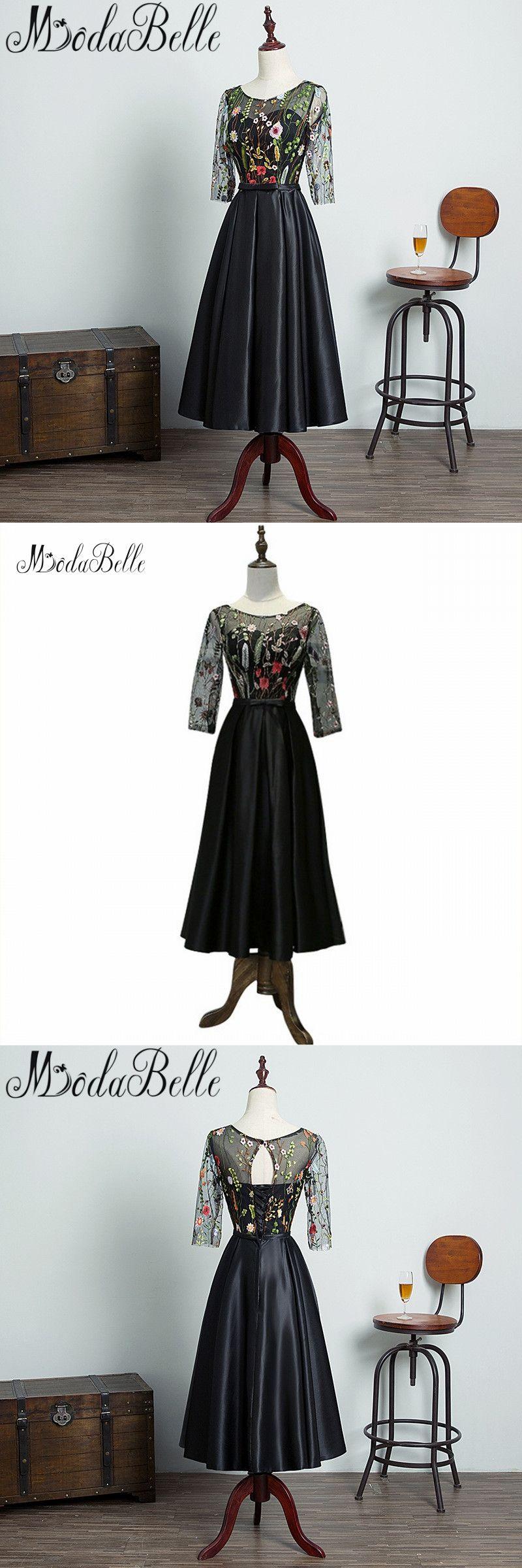 Modabelle black girls formal party dress lace short prom dresses