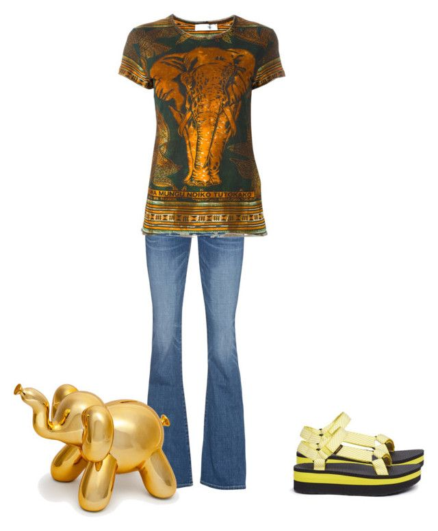 """""""Favorite animal"""" by seetherfan17 ❤ liked on Polyvore featuring True Religion, Valentino and Teva"""
