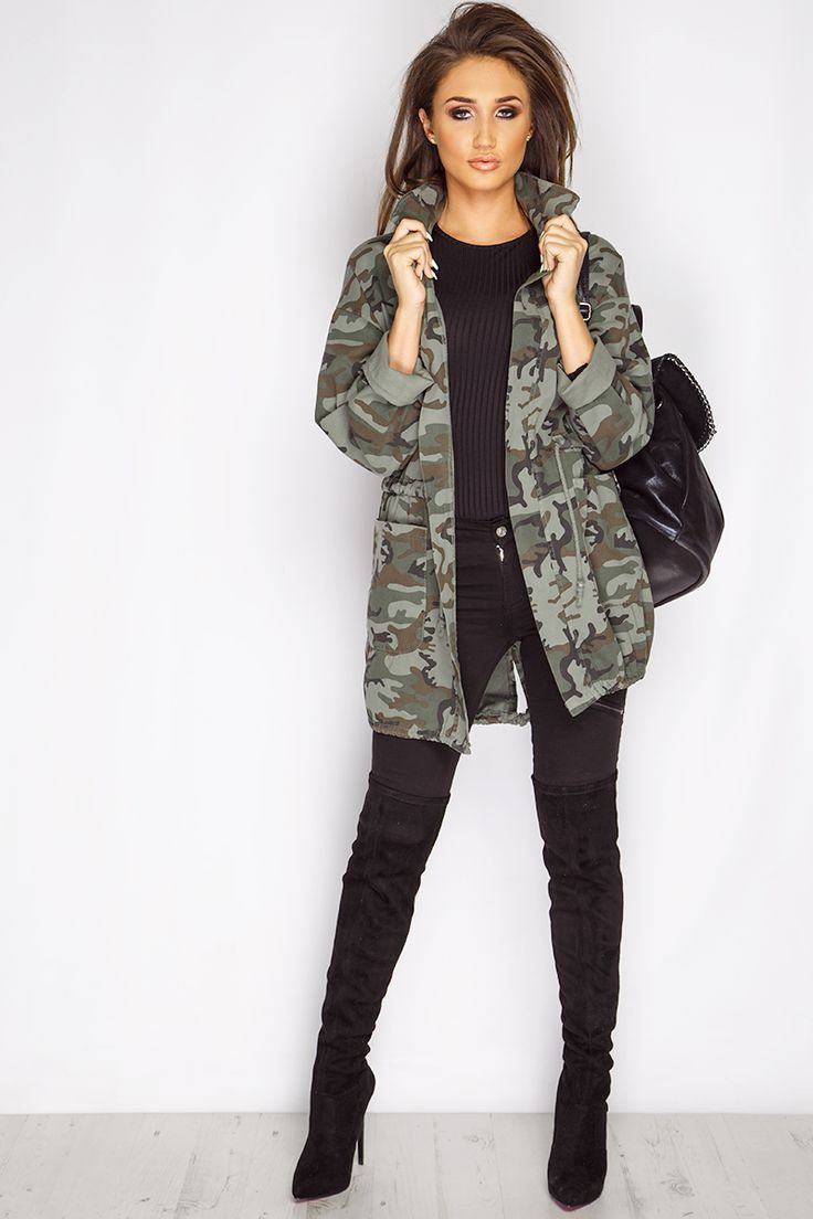 745202442bdf7 Lara Khaki Camouflage Military Jacket. Order Today, Get Next Day Delivery &  Take Your Wardrobe From Zero To 100 At MissPap.
