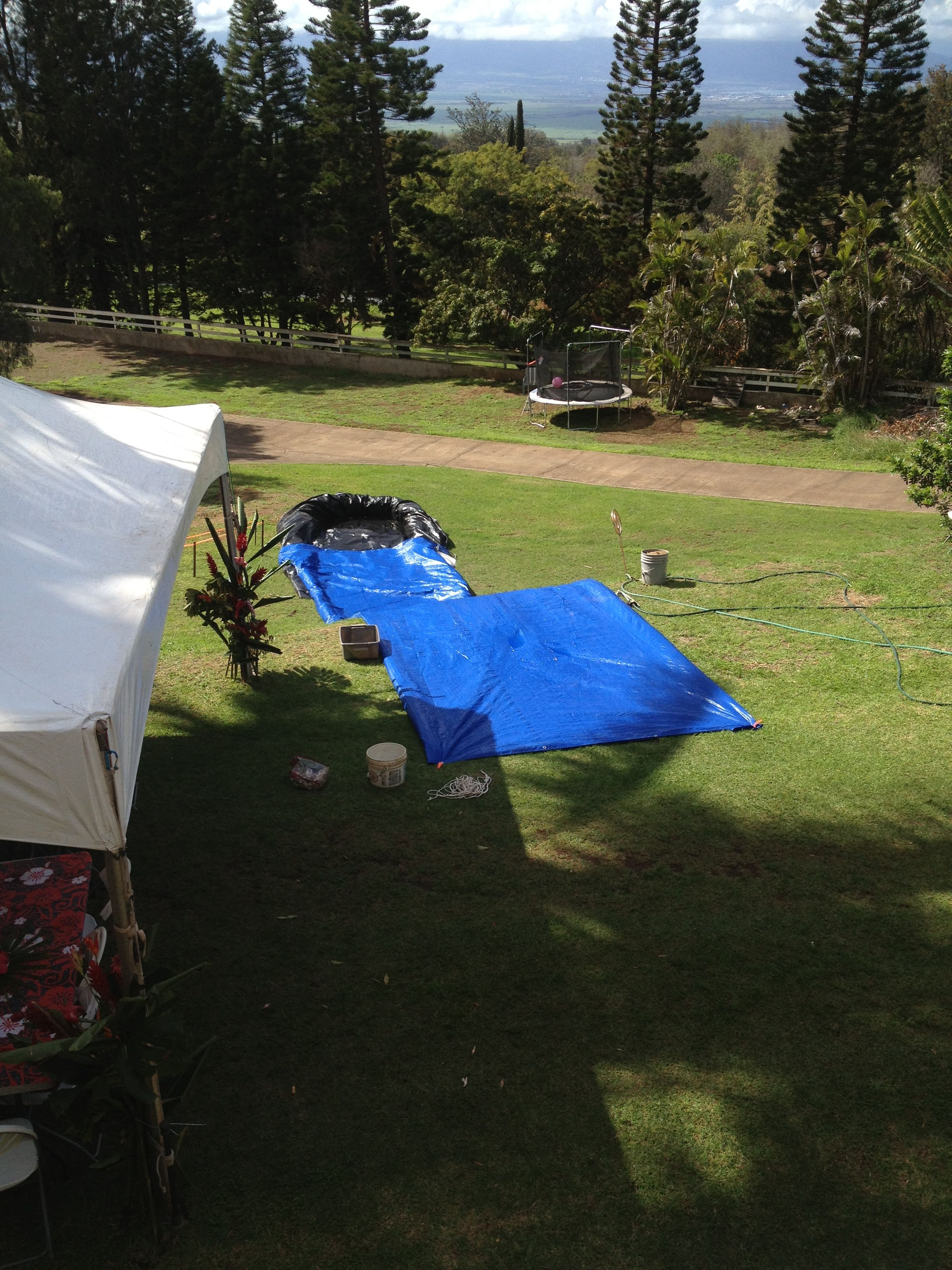 Make A Giant Slip And Slide Out Of Tarps, A