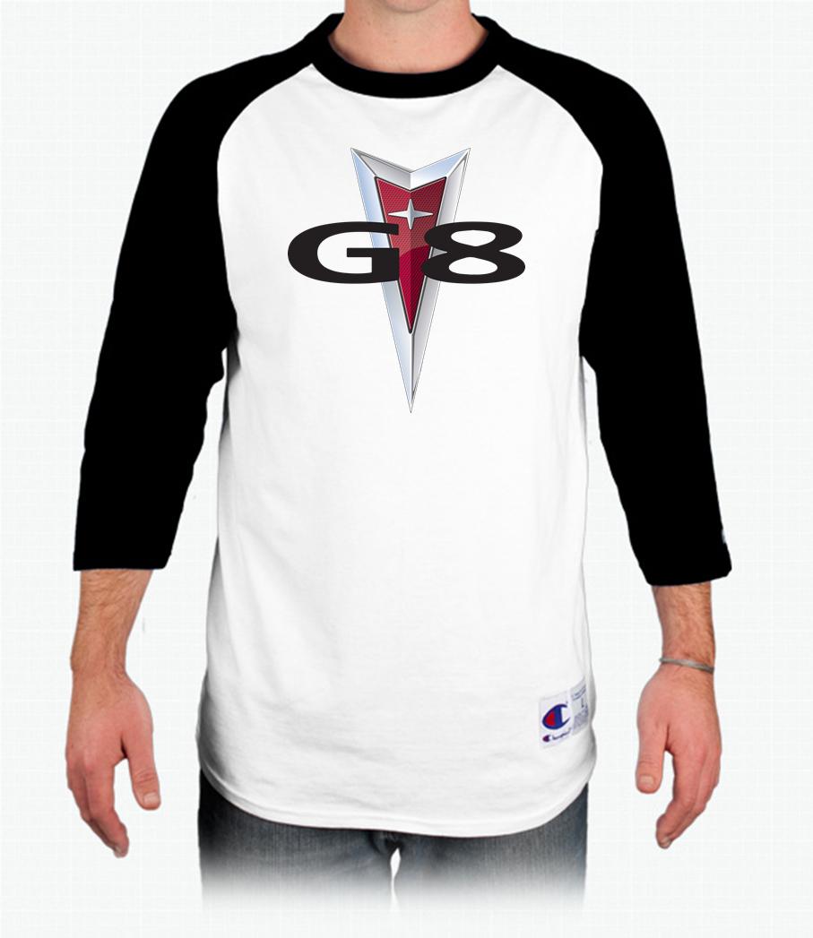 Pontiac G8 Champion Tagless Raglan Baseball T Shirt Baseball Tshirts Shirts Long Sleeve Tshirt Men