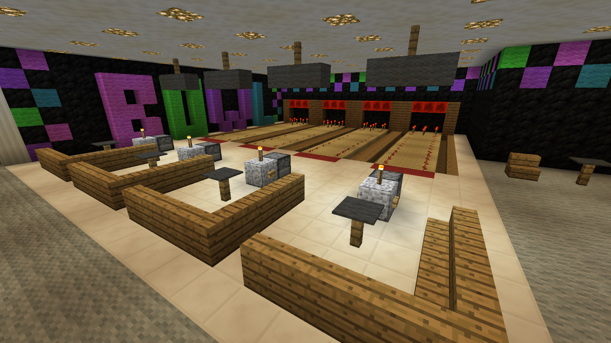 Minecraft bowling alley creations pinterest