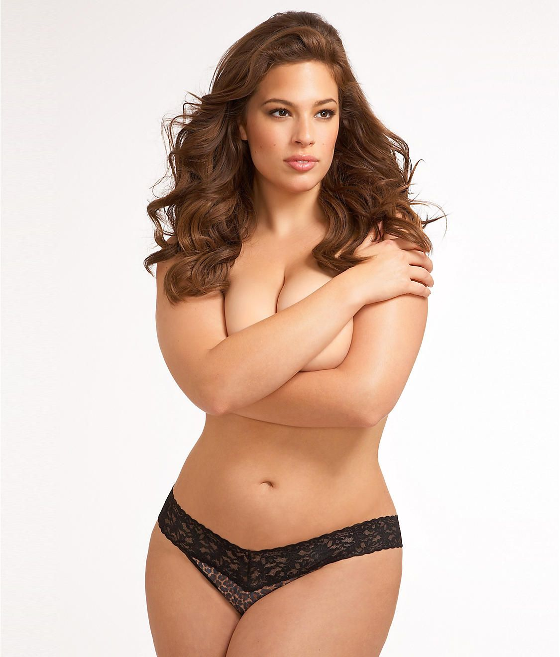 signature lace original rise leopard thong plus size | graham