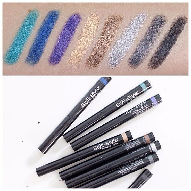 Thanks @looklovelylaura for these beautiful swatches of our new Color Lock Intense Shadow Sticks! Check out her YouTube channel for her thoughts on our newest release. || #regram #stylistyle #stylette #colorlock #eyeshadow #swatches