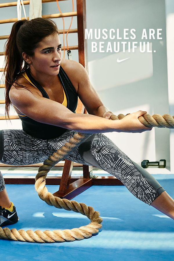 """online store 75fc2 5facf """"Girls can be strong, have muscles, and still be beautiful."""" — NikeWomen  cross-training star and  betterforit pro, Lauren Fisher."""